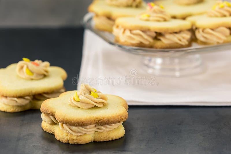 Biscuits sablés de sandwich photos stock