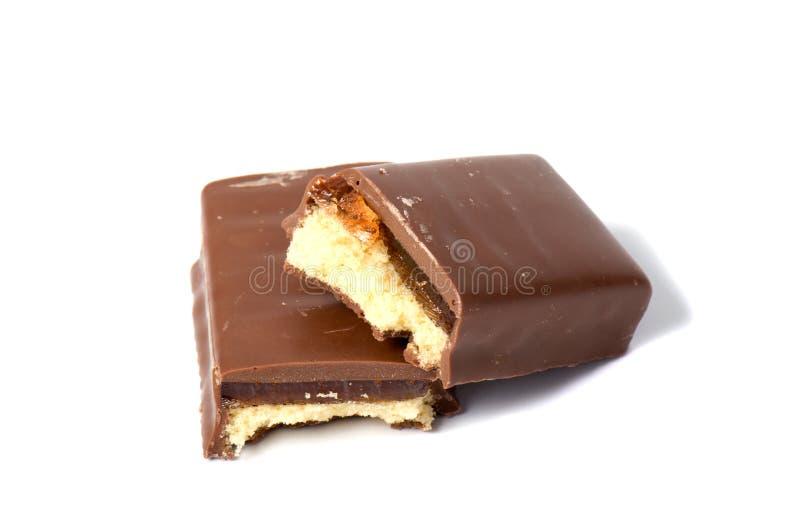 Biscuits sabl?s sur un fond blanc, photographie stock