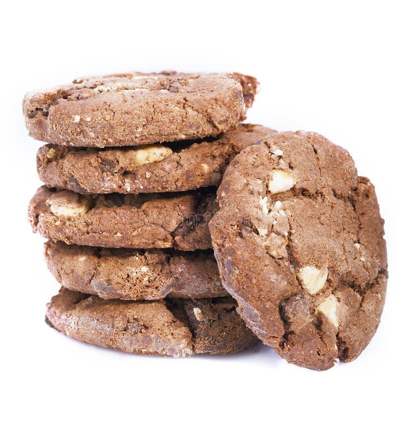 Biscuits savoureux avec du chocolat et des écrous photographie stock