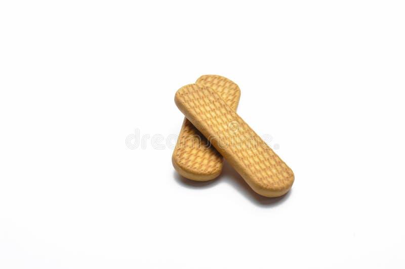Biscuits savoureux d'isolement sur le fond blanc photographie stock libre de droits