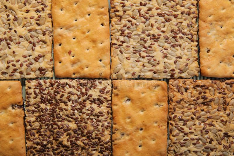 Biscuits savoureux de différents types Deux genres de biscuit photo stock