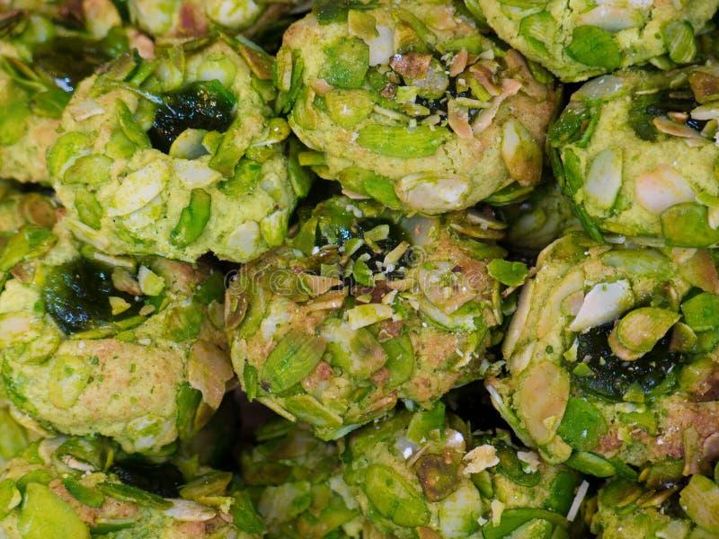 Biscuits siciliens de pistache et d'amande photographie stock libre de droits