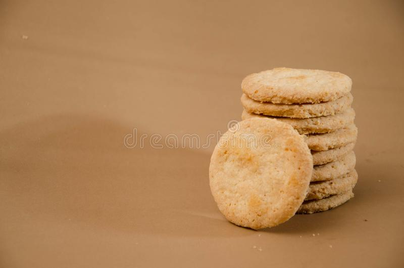Biscuits simples délicieux images stock