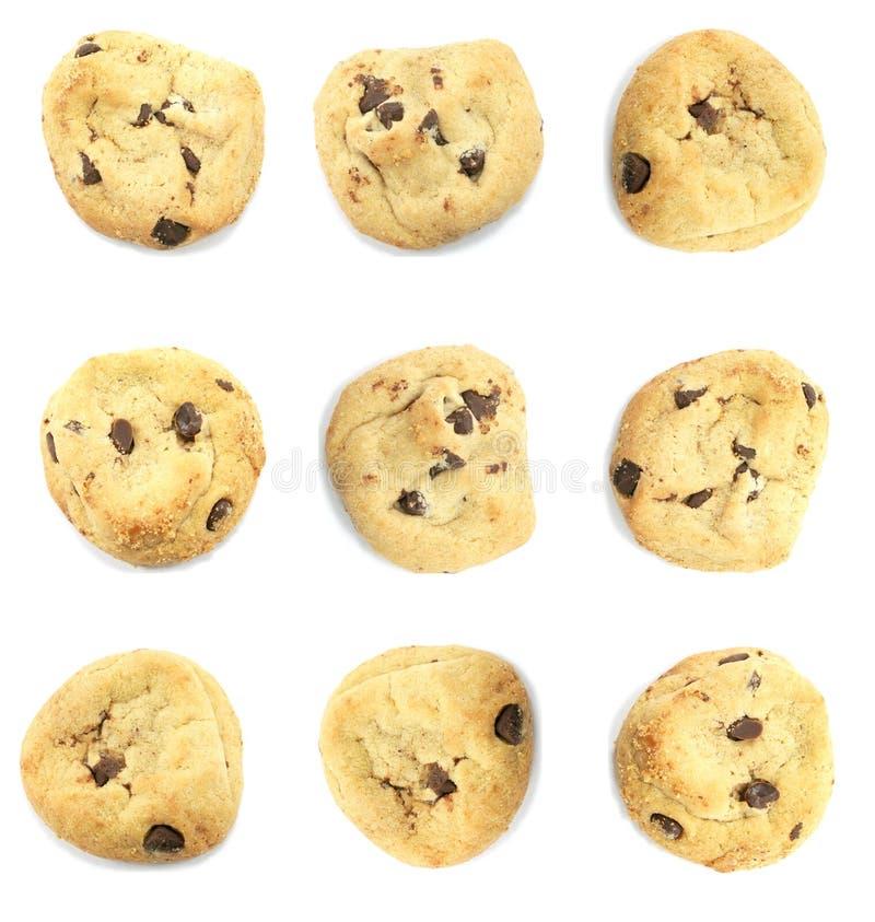 Biscuits soigné présentés image stock