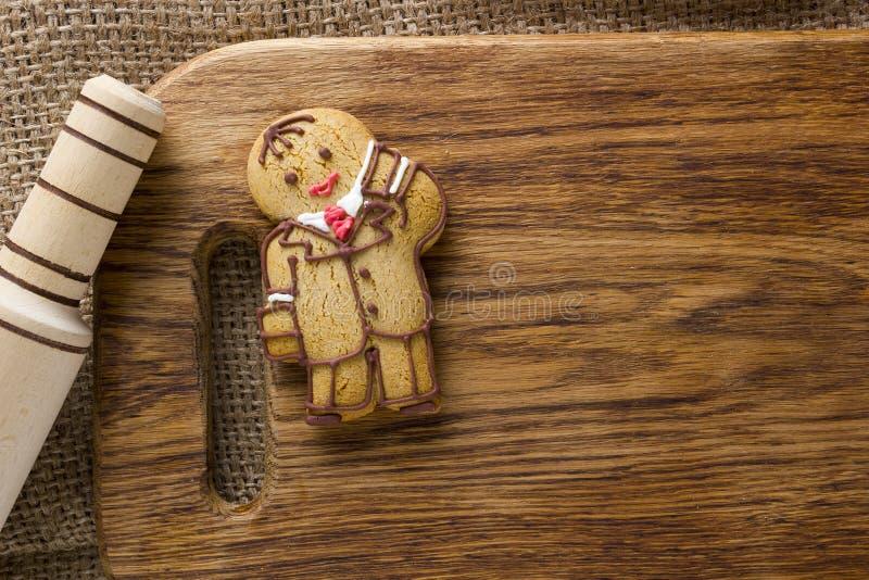 Biscuits sous forme d'homme images libres de droits