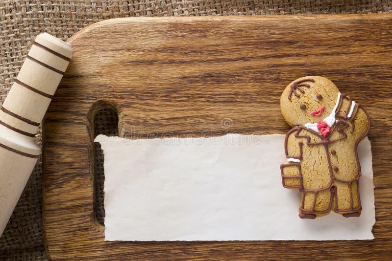 Biscuits sous forme d'homme photo libre de droits
