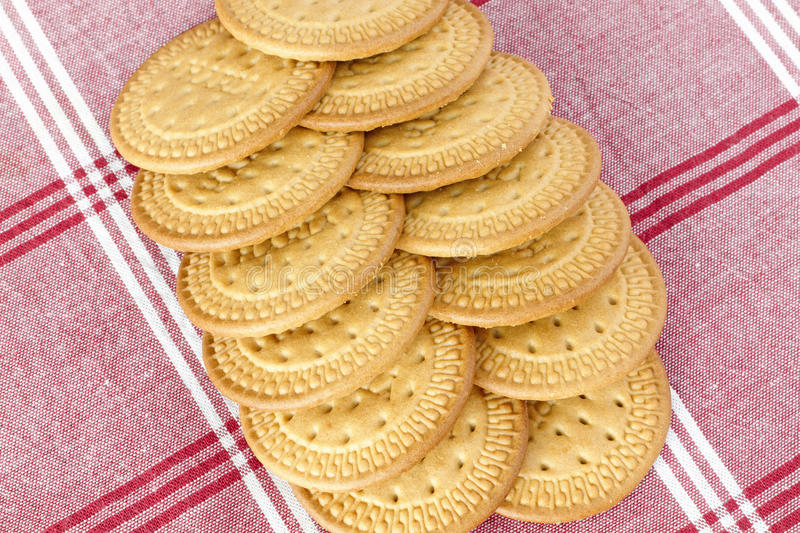 Biscuits On A Tablecloth Stock Photos