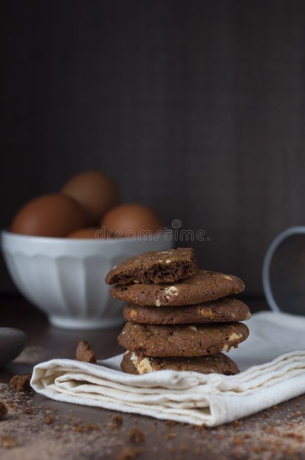 Biscuits tout préparés photographie stock