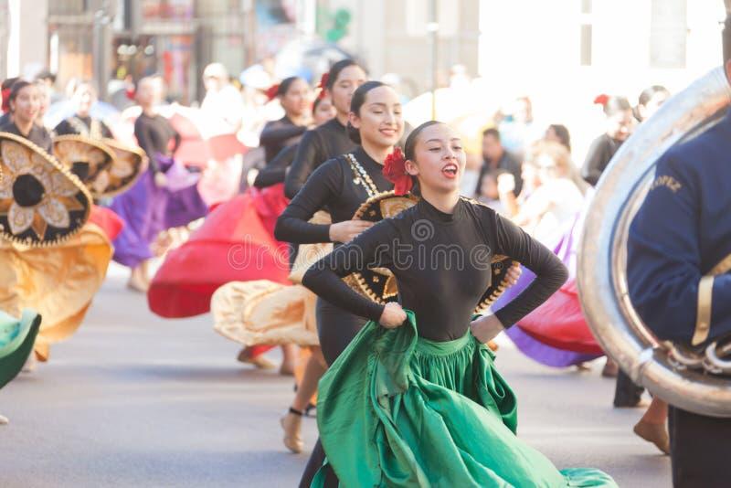 BISD-de Parade van Kinderen` s Charro Dagen royalty-vrije stock foto