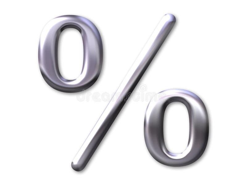 Biseau d'argent d'â de pourcentage illustration libre de droits