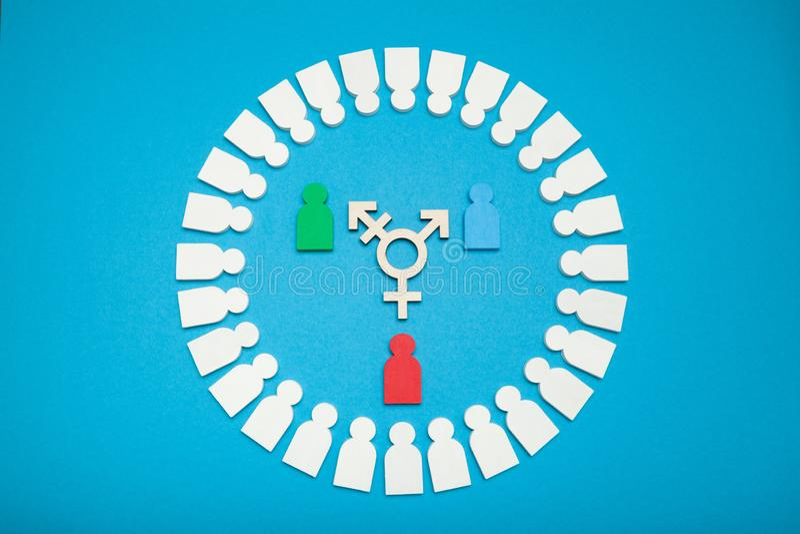 Biseksueel geslachtsconcept, transsexueelgelijkheid royalty-vrije stock foto's