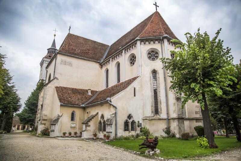 Biserica Bartolomeu Brasov Kościelna Historyczna ewangeliczka fotografia royalty free