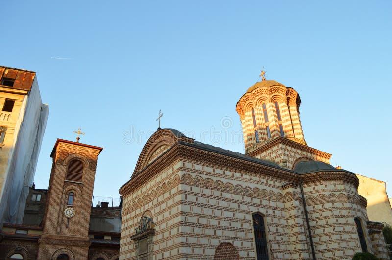 Biserica Sfântul Anton kyrka bucharest royaltyfria bilder