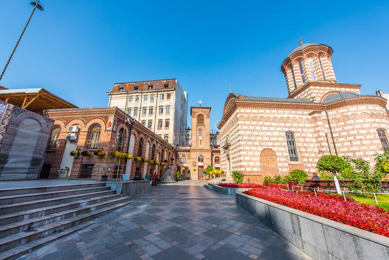 Biserica Sfantul Anton, Curtea Veche,罗马尼亚布加勒斯特 库存图片