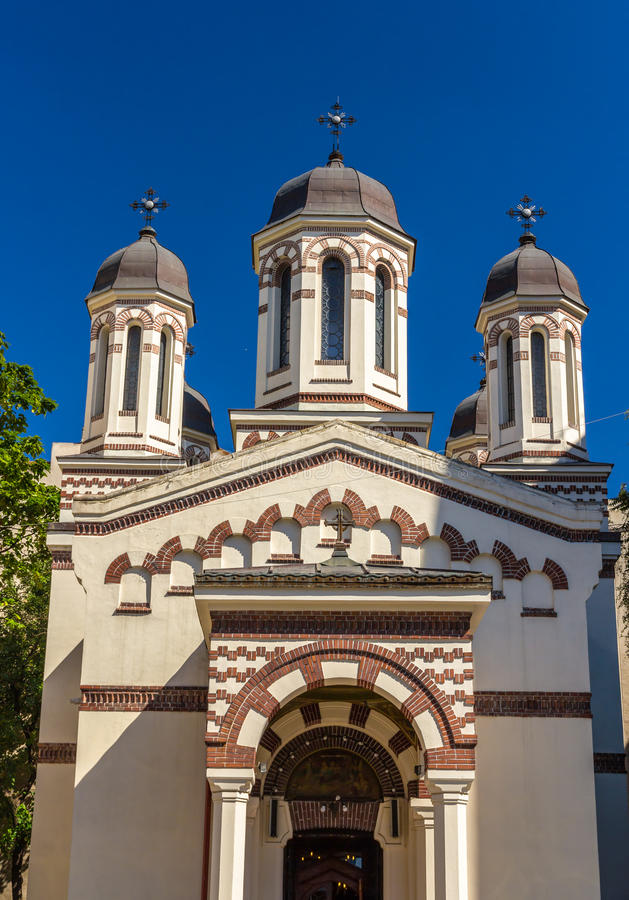 Biserica Zlatari in Boekarest stock foto