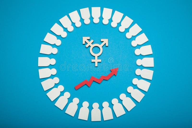 Bisexualit? et concept d'activisme de transsexuel photos stock