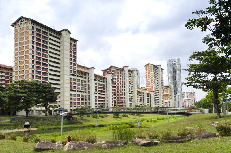 Bishan Park. Large residential park in central of Singapore stock photography