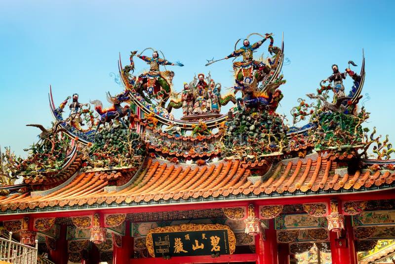 Bishan Temple in Taipei - Taiwan. royalty free stock photo