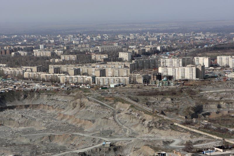 Bishkek è il Kirghizstan capitale fotografia stock