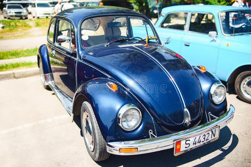 Blue car Volkswagen royalty free stock photography