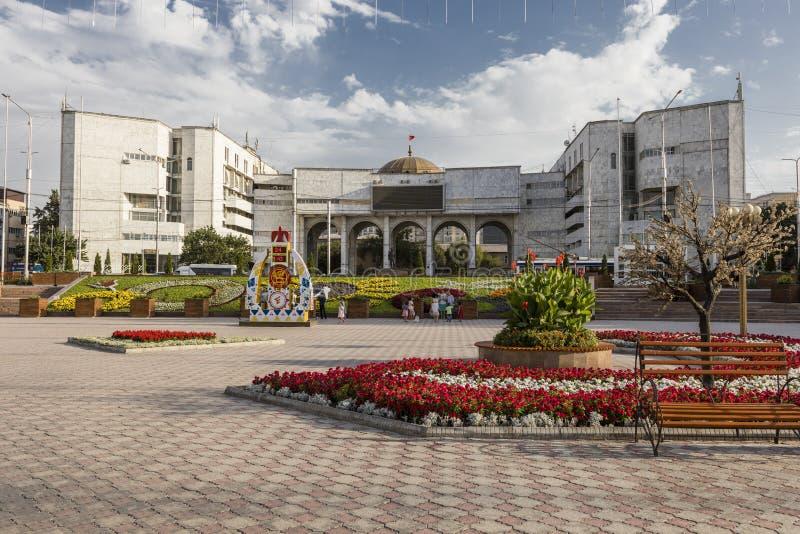 Bishkek, Kyrgyzstan 9 Augustus 2018: Ala-ook Vierkant stock afbeeldingen