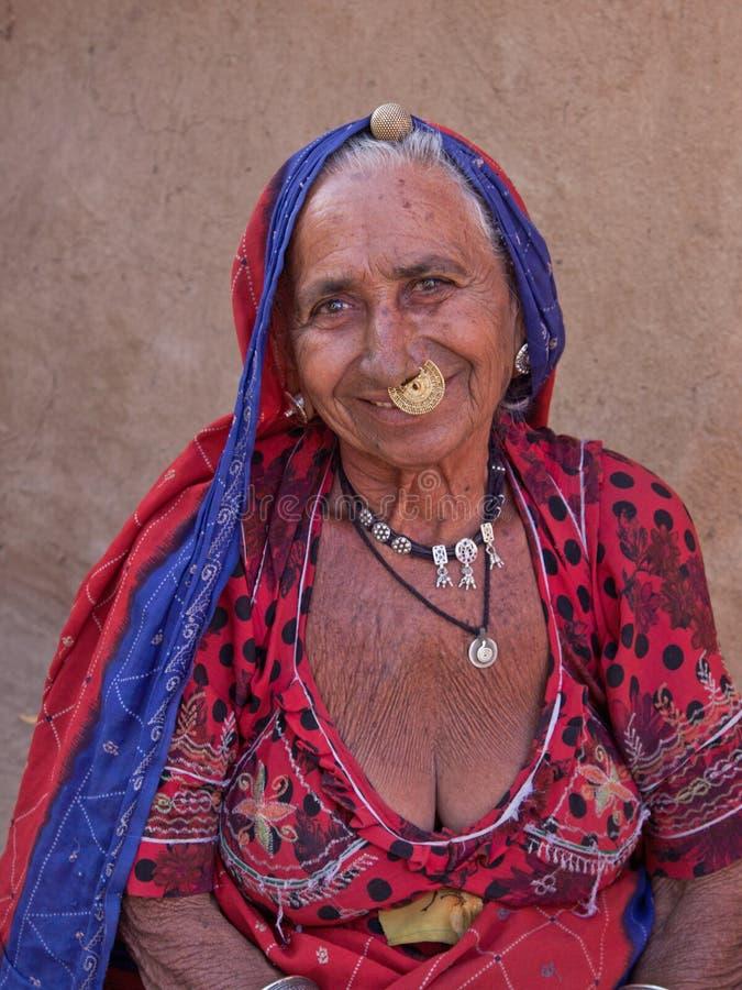 Bishnoi-Frau lizenzfreie stockbilder