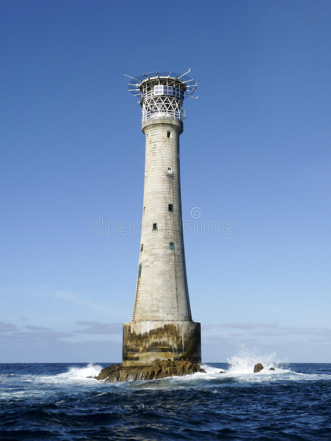 Bishop Rock Lighthouse immagine stock libera da diritti