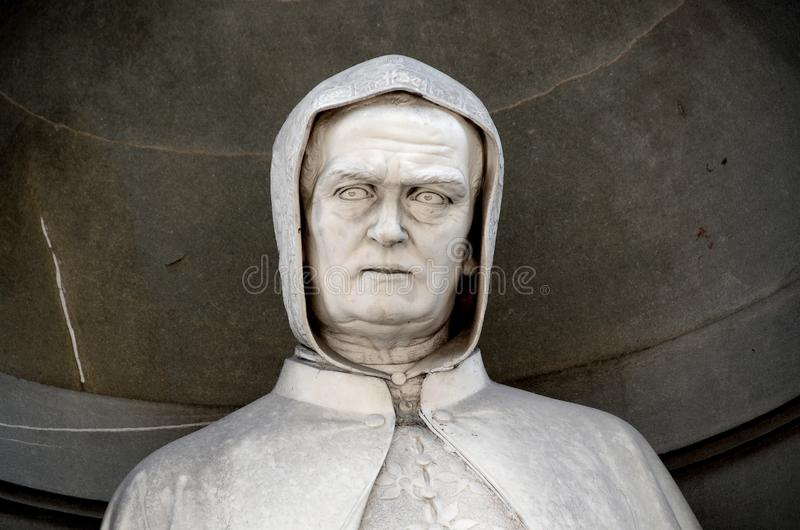 Bishop's bust. A close up of a bishop's bust in Florence, Italy royalty free stock photography