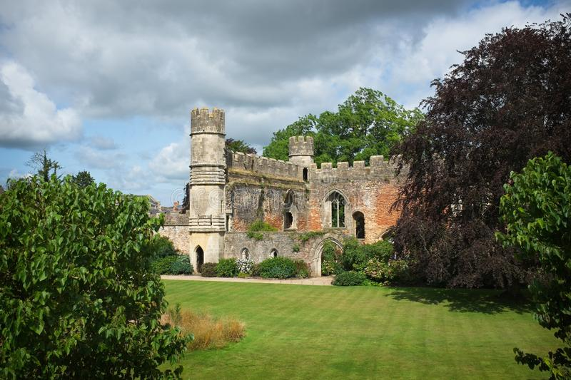 Bishop`s Palace garden, Wells Cathedral royalty free stock image