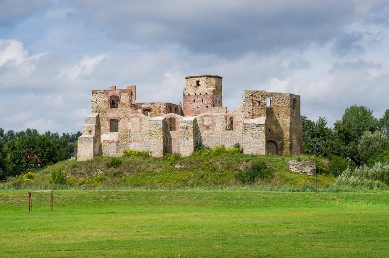 Bishops castle in Siewierz. Was built in the 15th century, Poland stock image