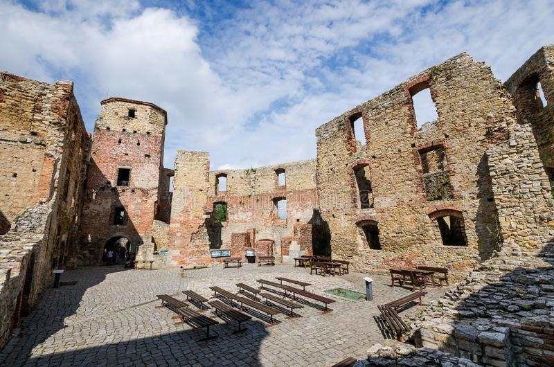 Bishops castle in Siewierz. Was built in the 15th century, Poland royalty free stock images