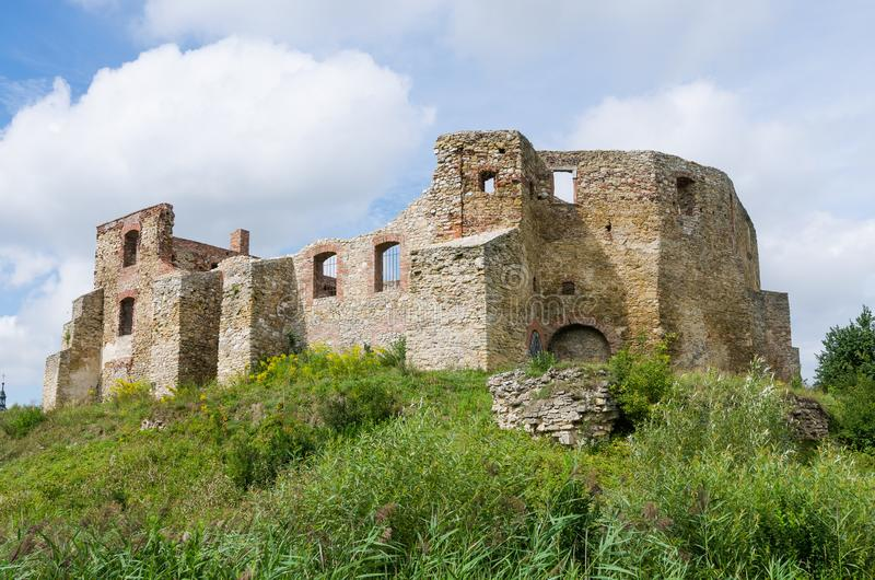Bishops castle in Siewierz. Was built in the 15th century, Poland royalty free stock photo