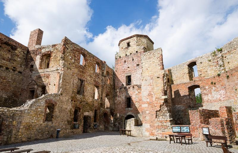 Bishops castle in Siewierz. Was built in the 15th century, Poland stock photo