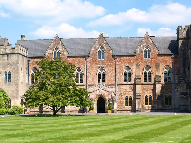 Bishops Palace. And courtyard , Wells Somerset stock photo