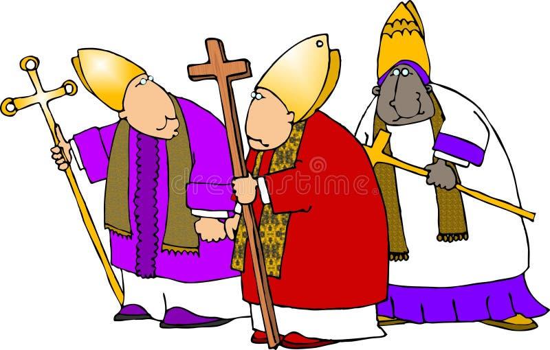 Bishops três ilustração do vetor