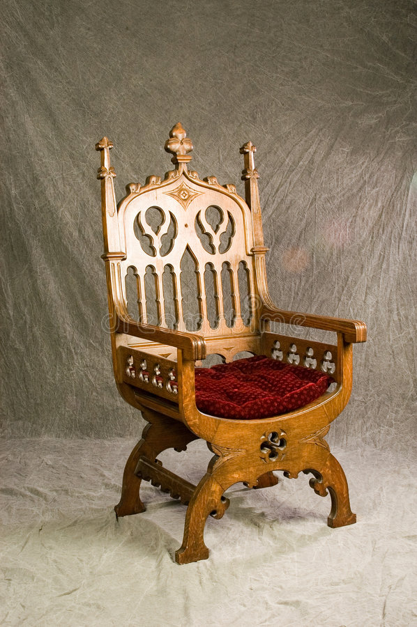 bishopsstol royaltyfria bilder