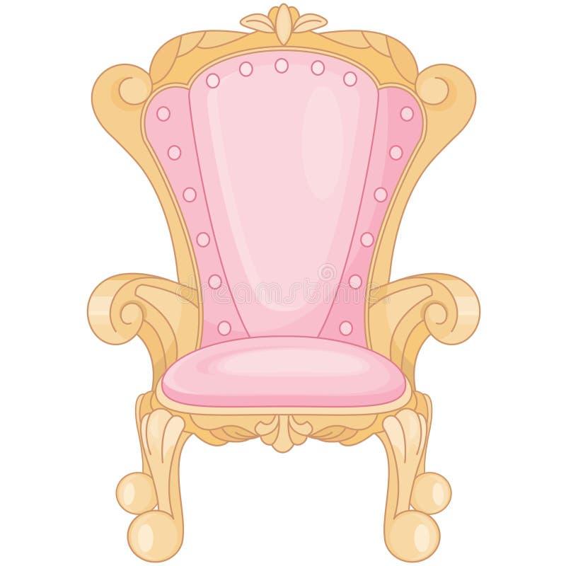 Biskopsstol för prinsessa Ballroom Royal Pink royaltyfri illustrationer
