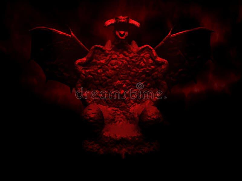Biskopsstolen för mörker för drake` s Digital illustrationkonst stock illustrationer
