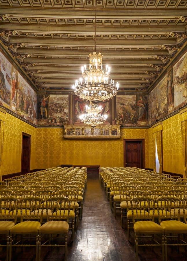 Biskopsstolrummet Slott för Grandmaster` s valletta malta fotografering för bildbyråer