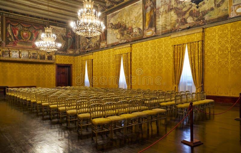 Biskopsstolrummet Slott för Grandmaster` s valletta malta royaltyfria bilder
