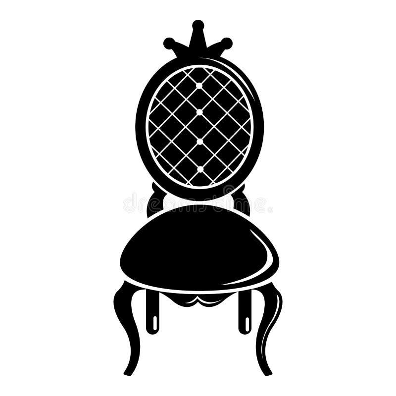 Biskopsstolsymbol, enkel svart stil royaltyfri illustrationer