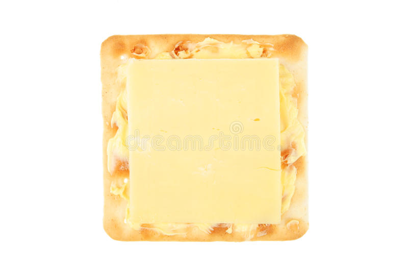 Biskuit mit Käse stockfotografie