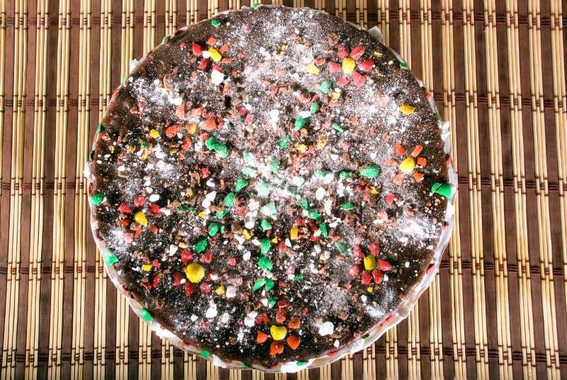 Biskuit-Schokoladen-Kuchen lizenzfreie stockfotos