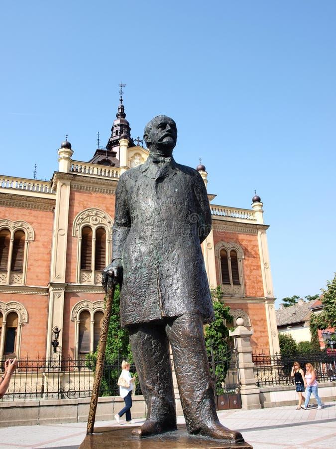 biskupa novi pałac s smutny Serbia zdjęcie stock