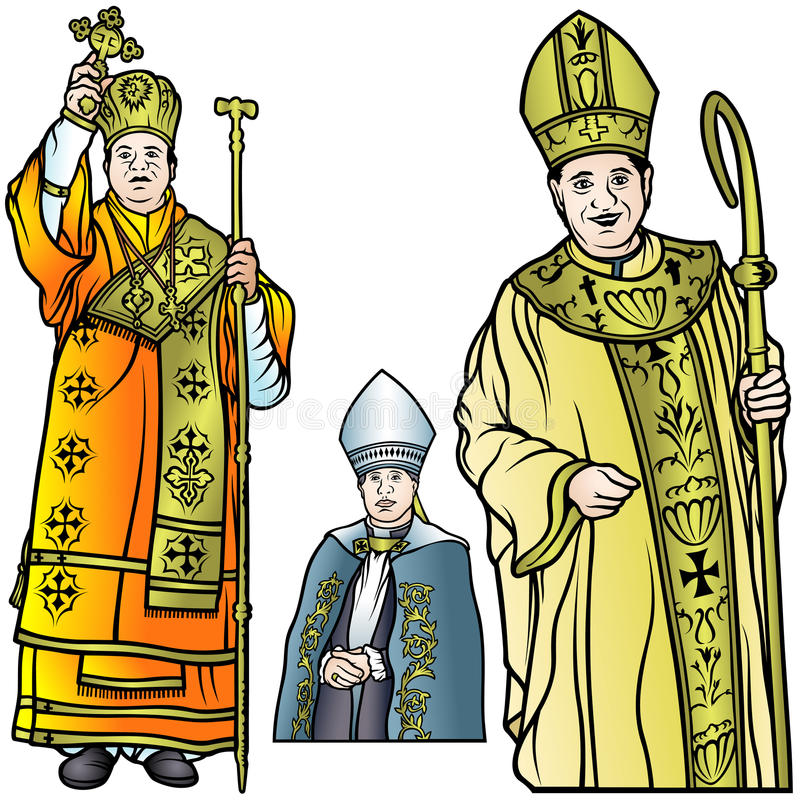 Biskupa set ilustracja wektor
