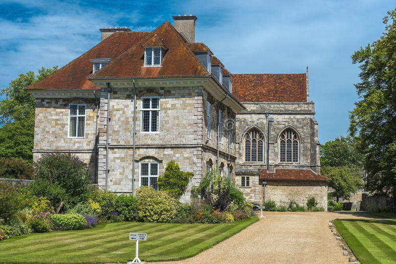 Biskupi mieścą, Winchester, Hampshire, Wielki Brytania obrazy royalty free