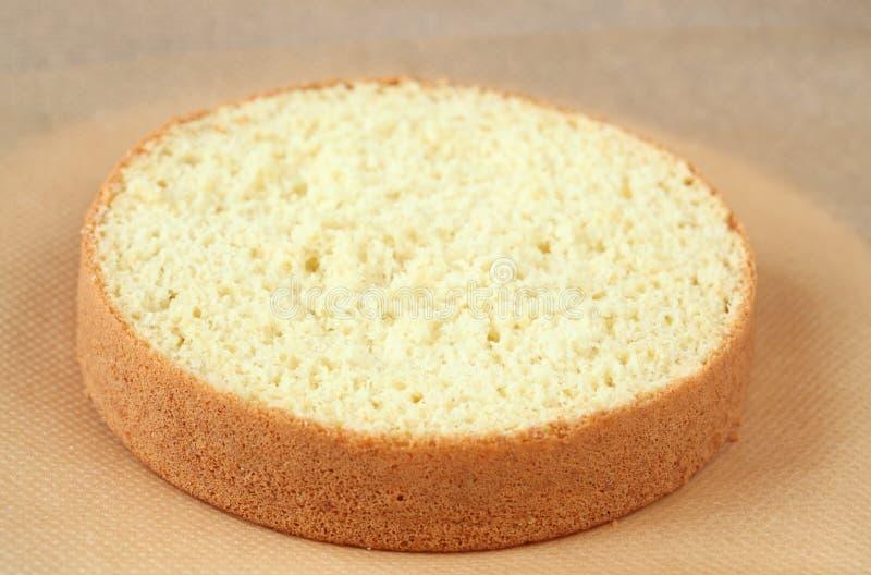 Biskwitowy gąbka tort obrazy royalty free