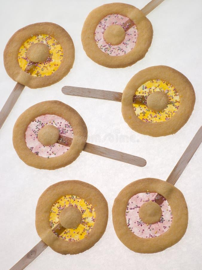 biskwitowy lizaków shortbread słodyczy zdjęcie royalty free