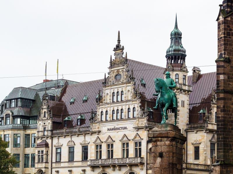 Bismarck zabytek na Bremen Targowym kwadracie fotografia royalty free