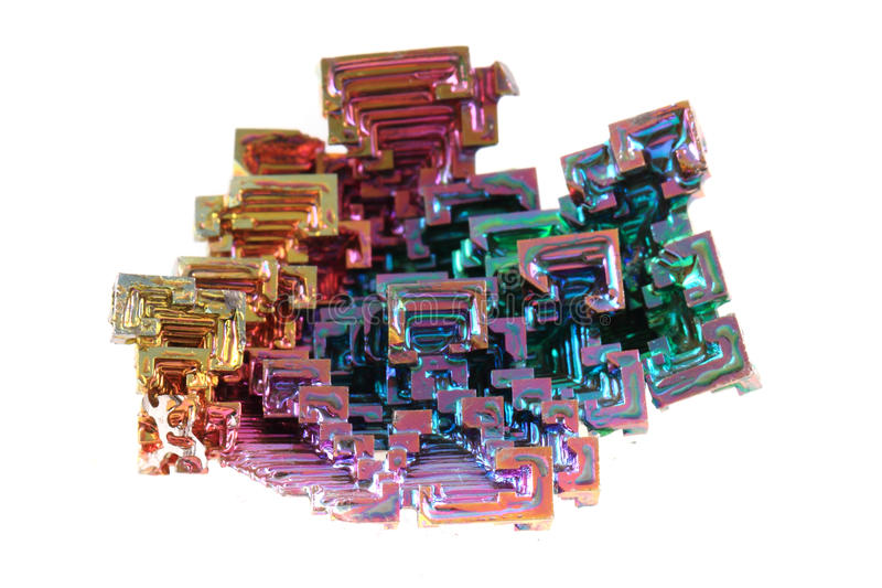 bismut het mineraal van het regenboogmetaal stock foto afbeelding bestaande uit inzameling. Black Bedroom Furniture Sets. Home Design Ideas